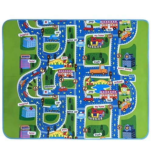 Kids Carpet Playmat Rug City Life Great For Playing With Cars and Toys Play,