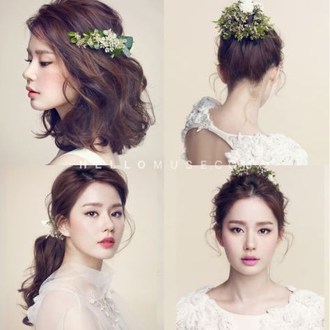 Korea Pre Wedding Photo Make Up And Hair Korean Style Makeup Korea Wedding Makeup Korea Famous Make Up Korea Gaya Rambut Pesta Gaya Rambut Pengantin Wanita