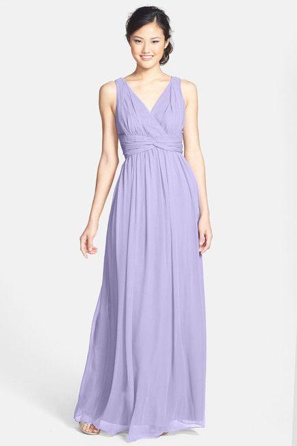 'Julie' Twist-Waist Silk Chiffon Gown