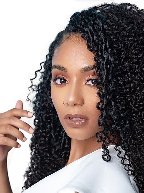 Sasha Curl Natural Hair Extensions 3b 3c In 2020 Curly Hair