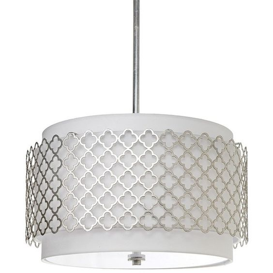 Regina Andrew Modern Luxe Silver Chandelier ($648) ❤ liked on Polyvore featuring home, lighting, ceiling lights, modern ceiling lights, silver light, modern ceiling lamp, modern white chandelier en white lights