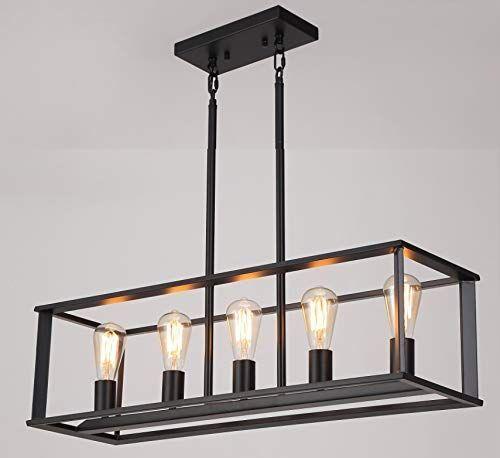 5 Light Kitchen Island Lighting Modern Linear Pendant Light Fixture Oil Rubbed Bla Pendant Light Fixtures Linear Pendant Lighting Black Pendant Light Kitchen