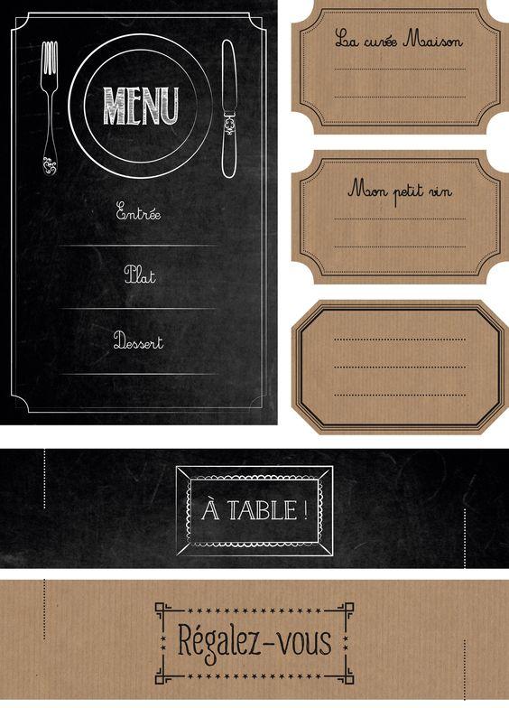 Etiquettes bistro