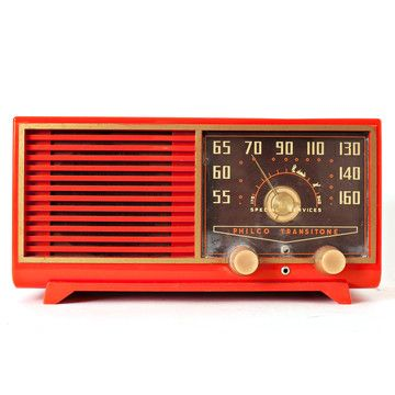 Mod Radio: Orange Philco Speaker.