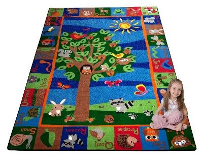 Forest Rug With Abc Animals Omg Would Love This Rug With