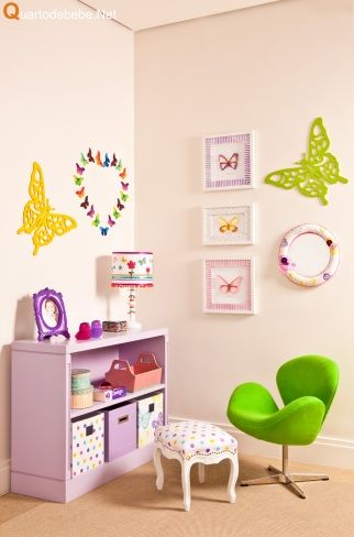 quarto infantil feminino borboletas