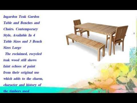 Ingarden Teak Garden Table and Benches and Chairs. - http://news.gardencentreshopping.co.uk/garden-furniture/ingarden-teak-garden-table-and-benches-and-chairs/
