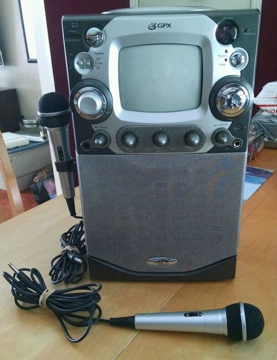 GPX-Karaoke CD + G Party Machine with Built In Monitor K2805 and 2 Microphones in Musical Instruments & Gear | eBay