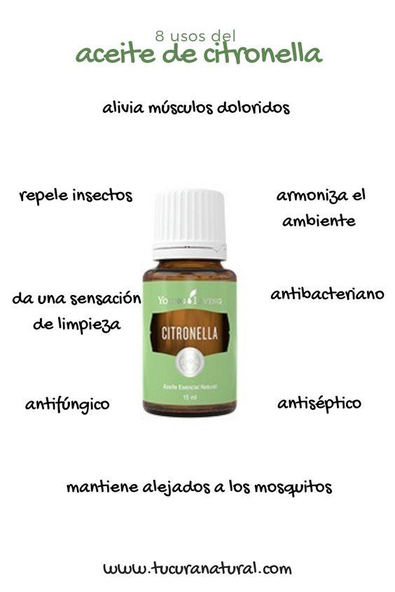 usos del aceite de citronella