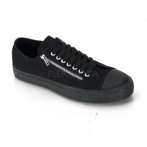 Previously Sold but brand new, Punk Goth Skater Canvas 2 Zipper Low Top Sneaker Size: 10 Pleesers USA,http://www.amazon.com/dp/B00BPH4GS4/ref=cm_sw_r_pi_dp_0NULrb47BD204898