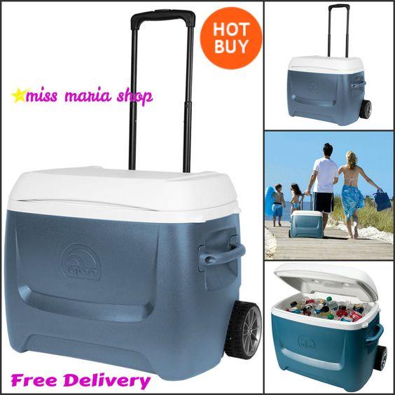 Igloo Cool Box Roller 62 Quart 58l 5 Day Beach Camping