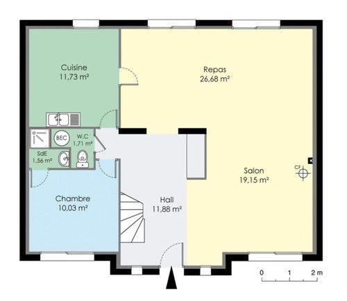 Maison francilienne 2 for Plan maison etage 140 m2