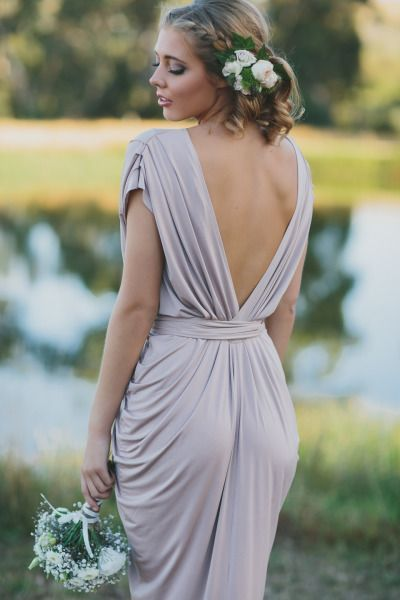Draped Dress French Country And Bridesmaid On Pinterest
