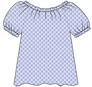 Free PDF tutorial on sewing a peasant top/blouse (adult size) - also gives instructions on how to make your own pattern too
