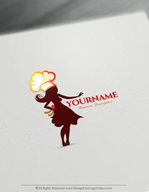 Make A Logo With Our Female Chef Logo Maker Online Free Chef Logo Logo Maker How To Make Logo