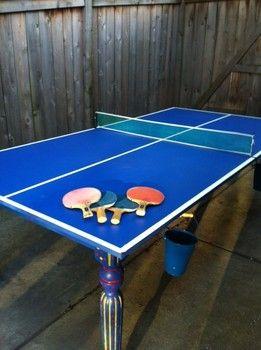 Diy Outdoor Ping Pong Table Fun Crafts Amp Activities