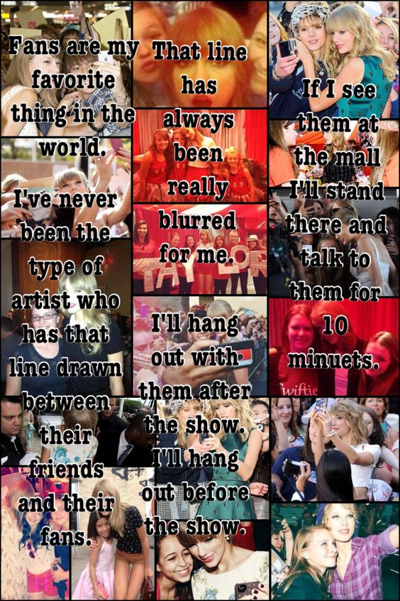 My first collage I've posted on Pinterest. I made it myself. I used something Taylor swift said about her and her fans. Hope you guys like it @fsuponder777 @kaeseys @rkestelle14 @Hungergamez777