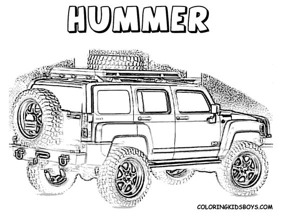 nascar coloring pages color page of hummer at coloring pages book for kids boyscom boy toys pinterest - Nascar Coloring Pages