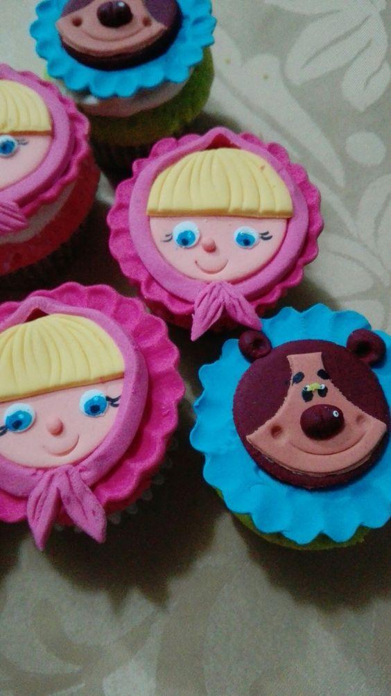 Cupcakes Masha y el oso: