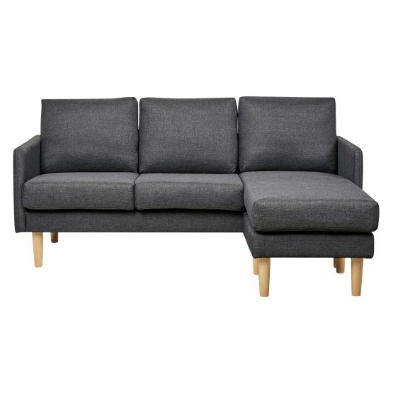 Admirable Gold Sparrow Fernley Chambray Reversible Sectional Sofa Bralicious Painted Fabric Chair Ideas Braliciousco