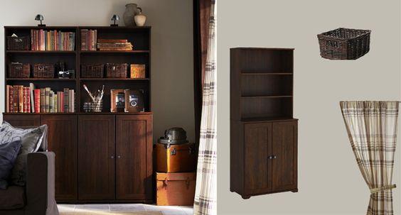 Borgsjo Shelf Unit With Doors 95 Office Pinterest