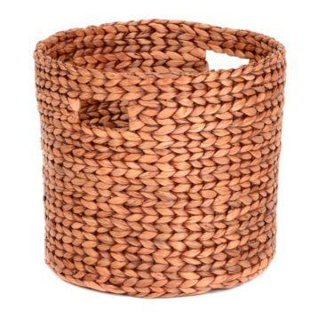 Round Woven Hyacinth Basket, Large