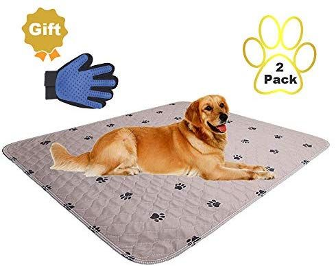Amazon Com Washable Dog Pee Pads Free Puppy Grooming Gloves