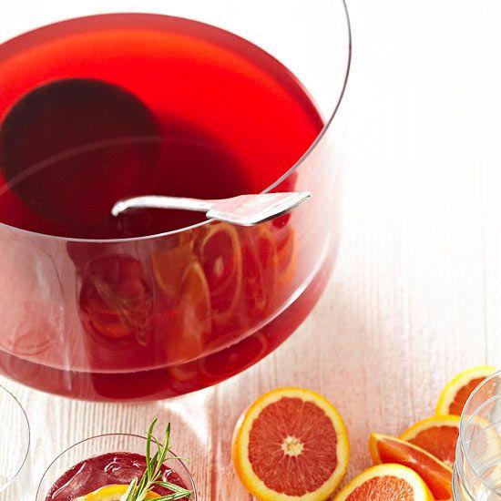 Pomegranates, Punch and Orange slices on Pinterest