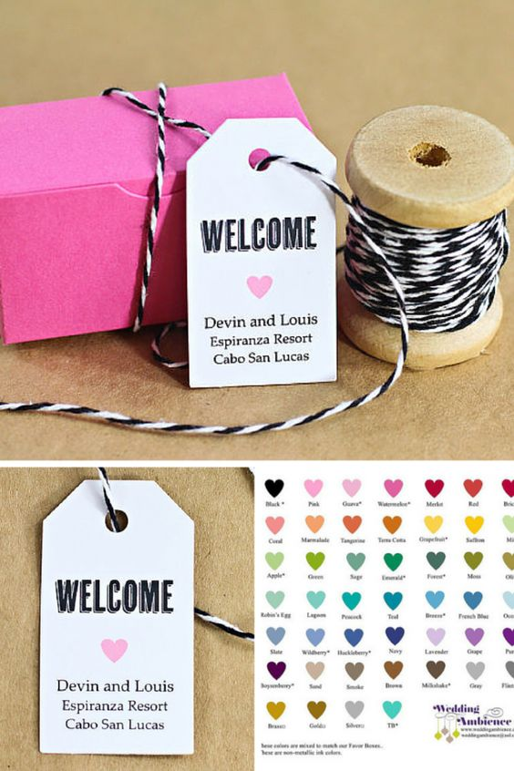 Thank You Sayings For Wedding Gift Bags : ... wedding favors destination weddings bouquets wedding favor tags bags