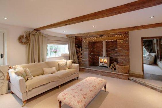 Cream Woodburner - I love this Living Room