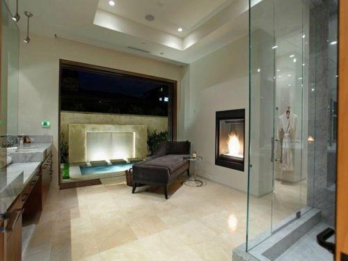 25 Badezimmer Designs Mit Einbaukaminen - Romantische Atmosphäre ... Badezimmer Designs