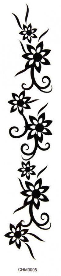 King Horse Tattoo stickers armbands waist tape flower tattoo stickers