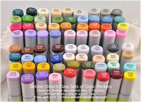Debbie Olson's favorite Copic markers