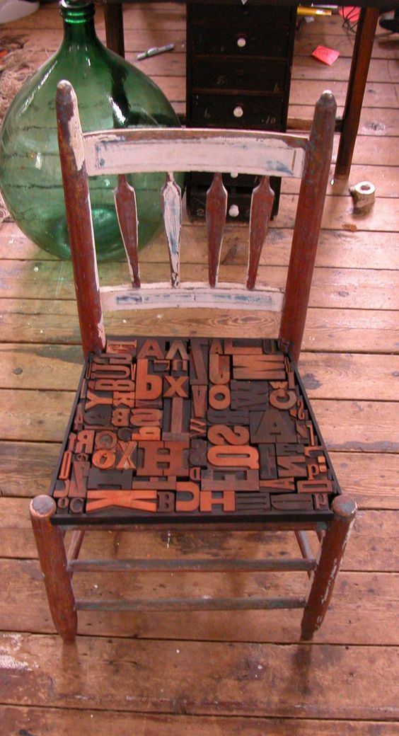 Typographic Chair.