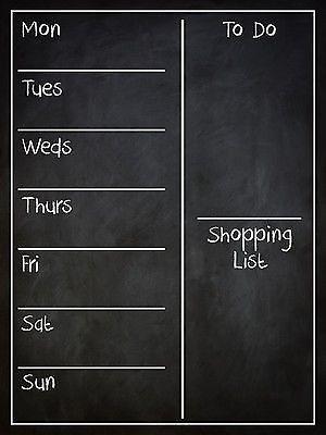 Family Organiser Wall Board Weekly Planner Easywipe Wall