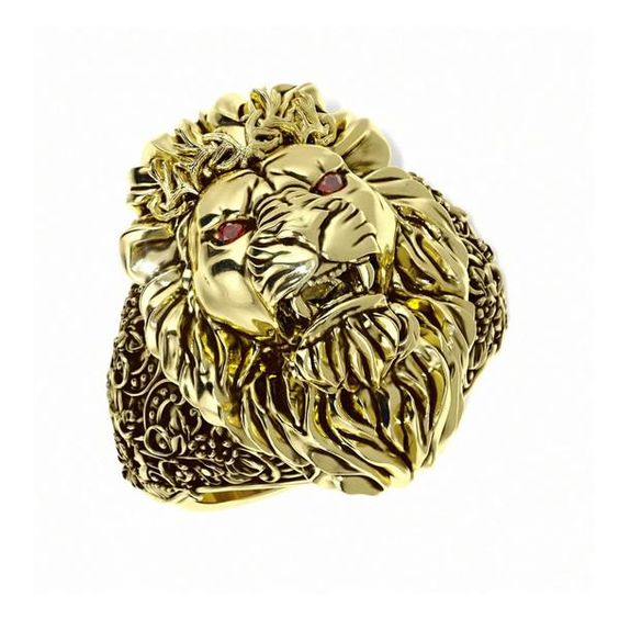 Reign Lion Ring Royal Pattern Unique Mens Rings
