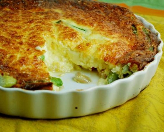Crustless Asparagus Quiche Recipe | http://aol.it/17MlQ2k