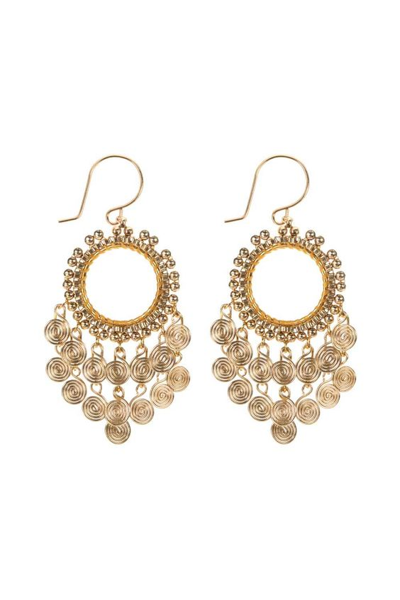 Miguel Ases Earrings Gold Filled Handmade