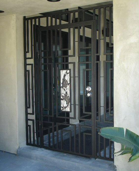 Koi Gate Mid Century Modern Courtyard Gates Pinterest
