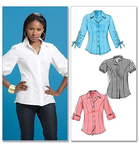 Sewing pattern custom design couture clothes mccall 39 s for Custom pattern button down shirts