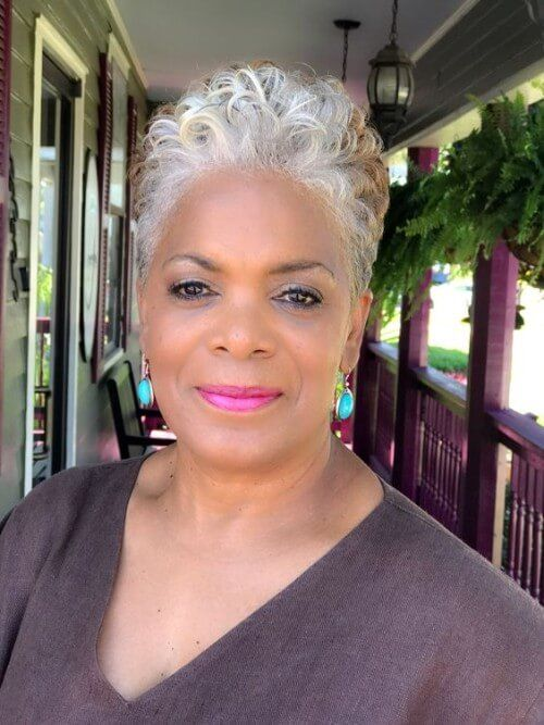 Hairstyles For Black Women Over 60 Short Grey Hair Short Hair