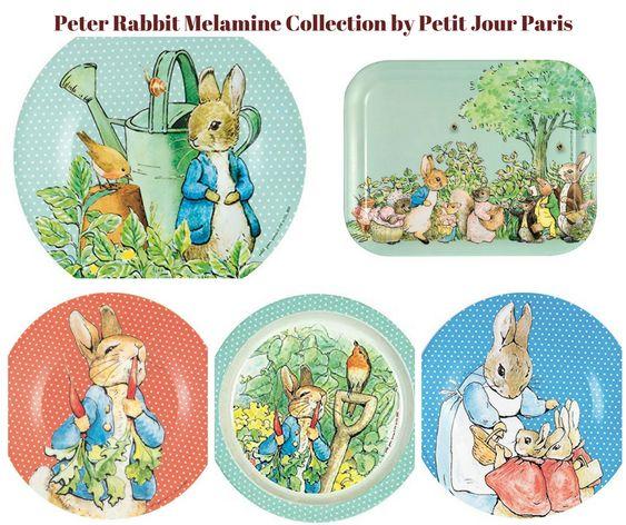 Peter Rabbit Melamine Collection by Petit Jour Paris