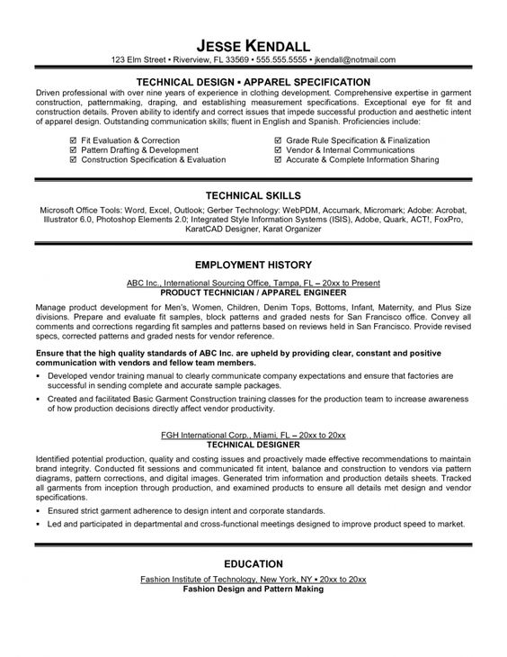 Top 10 Collection Technical Resume Examples Resume Example - drafting resume