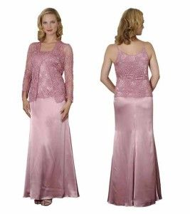 cheap Lilac crochet mother of the bride dresses with long sleeve ...