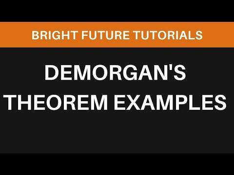 Demorgan S Theorem Examples Boolean Algebra Youtube Theorems Algebra Example