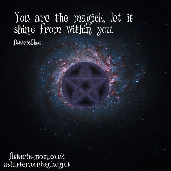... Inspiration: You are the magick let it shine from within you