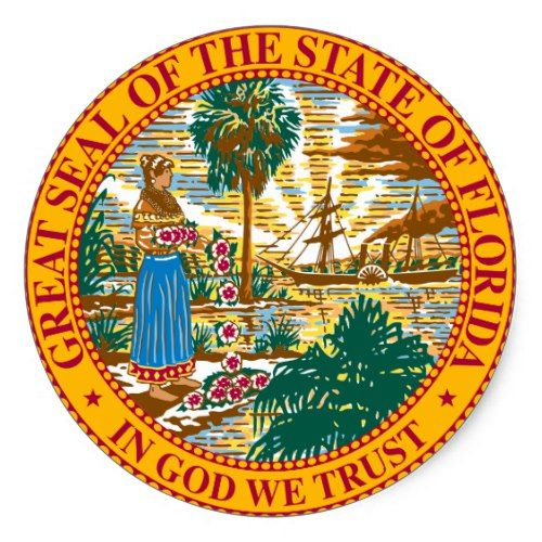 Florida State Seal Zazzle Com State Of Florida Florida