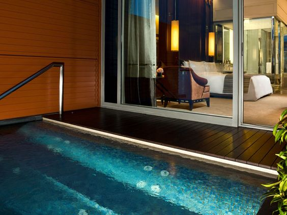 Premier bay view room with jacuzzi the fullerton bay - Hotel with private swimming pool in lonavala ...