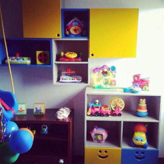 Repisas para cuartos de juegos organizador juguetes - Habitaciones de juguetes ...