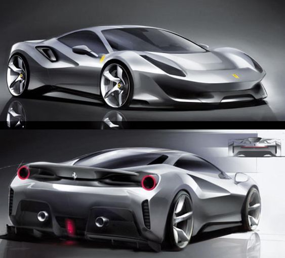 Ferrari 488 Pista Official Sketches Car Design Sketch